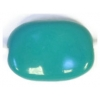 Glass Bead Fancy Rectangle 13x9mm Teal Strung